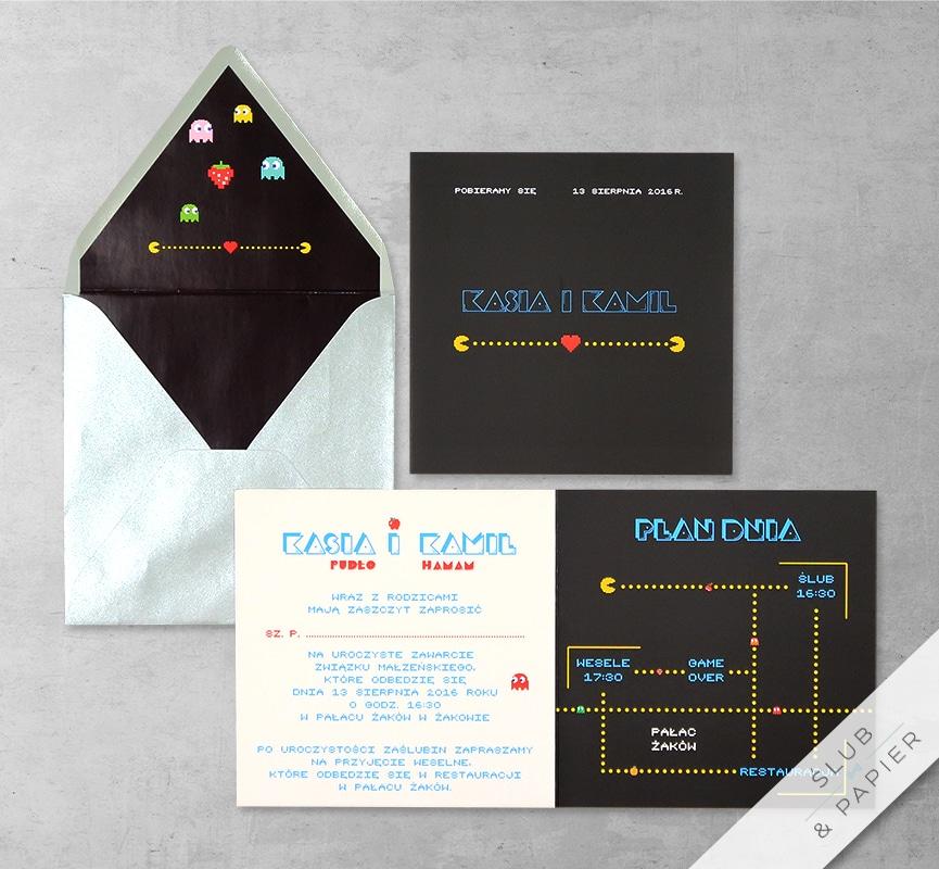 Pac-Man z wklejką i kopertą