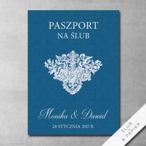 Zaproszenie ślubne Paszport ślubny