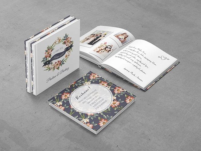 Księga Gości Kwiaty Malowane