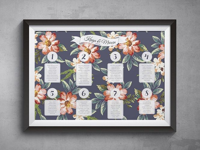 Plan Stołów Kwiaty Malowane