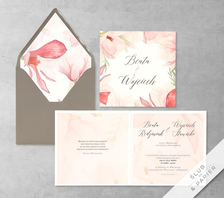Magnolie z wklejką i kopertą