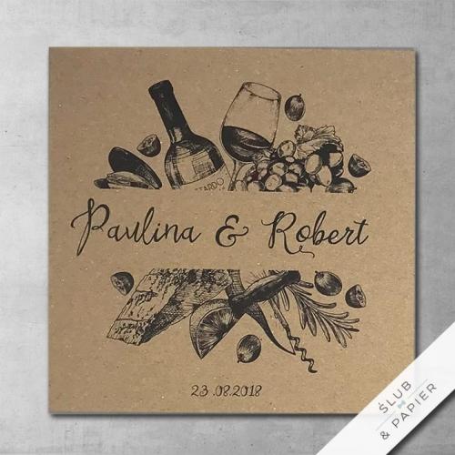 Zaproszenia 艣lubne Winnice