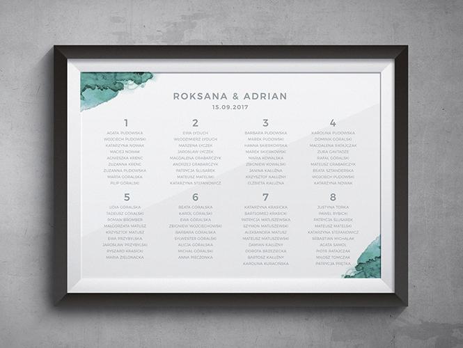 Zielony Agat Plan Stołów