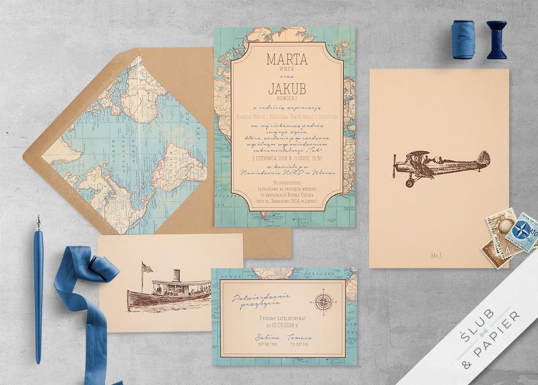 Podróż Vintage z wklejką i kopertą