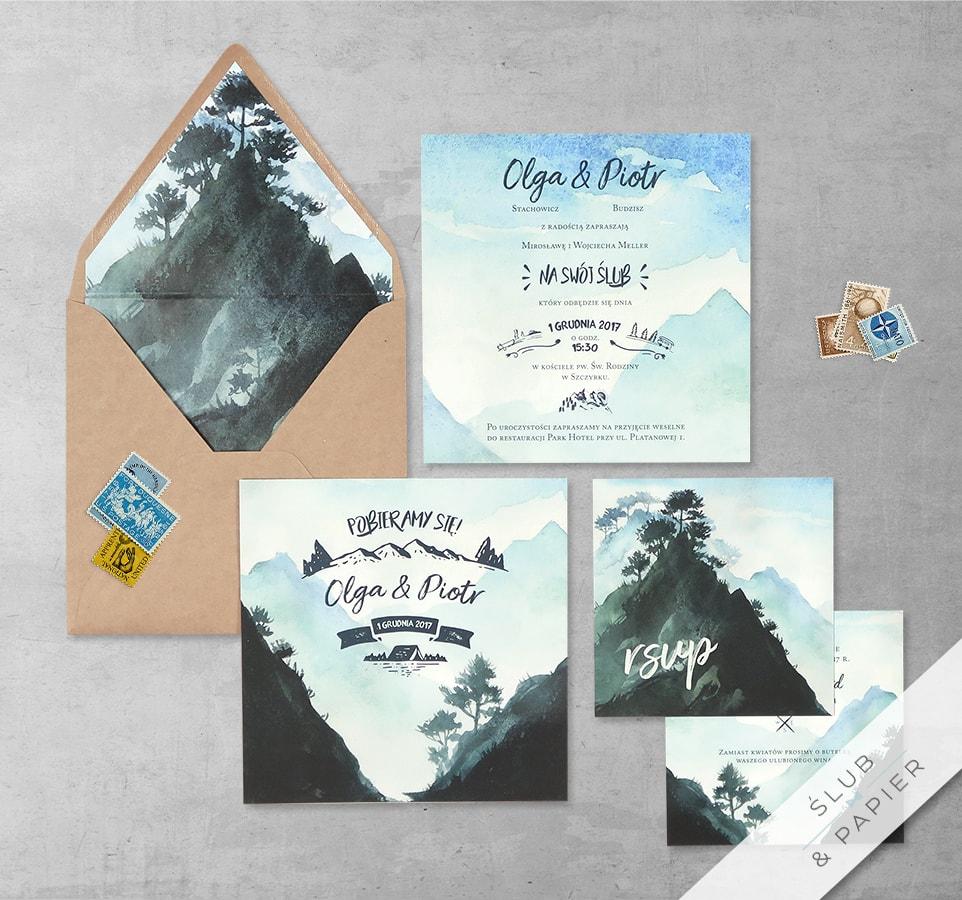 Góry z wklejką i kopertą