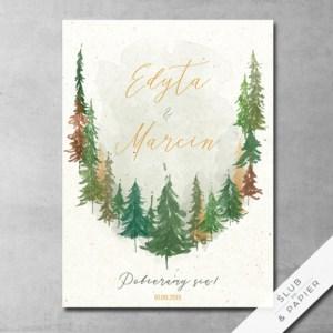 Zaproszenia ślubne Jesienny las