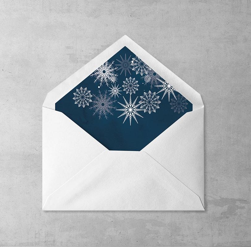 Płatki śniegu Wklejka