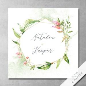 Zaproszenia ślubne Kwiatowy kryształ