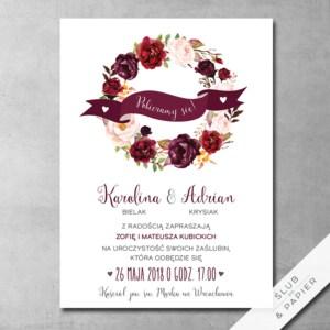 Zaproszenia ślubne Marsala