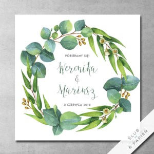 Zaproszenia ślubne Eukaliptus