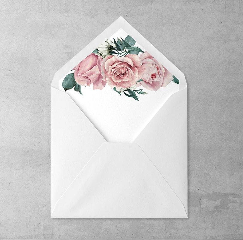 Pudrowe róże Wklejka
