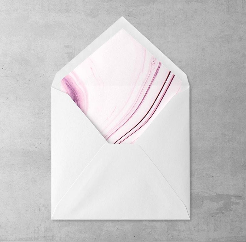 Wklejka Różowy Marmur