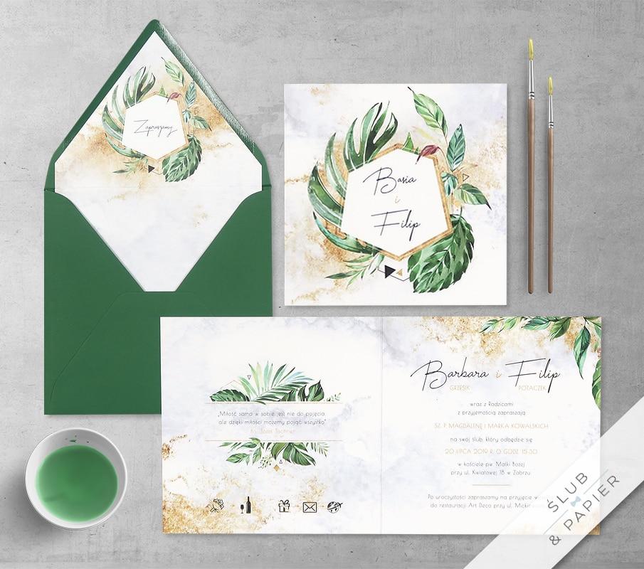 Egzotyczne liście z wklejką