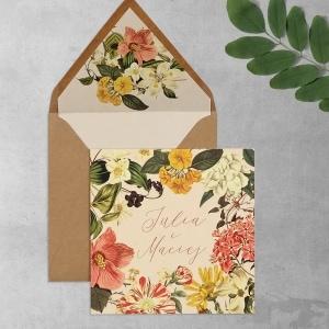 Kwiaty vintage z wklejką