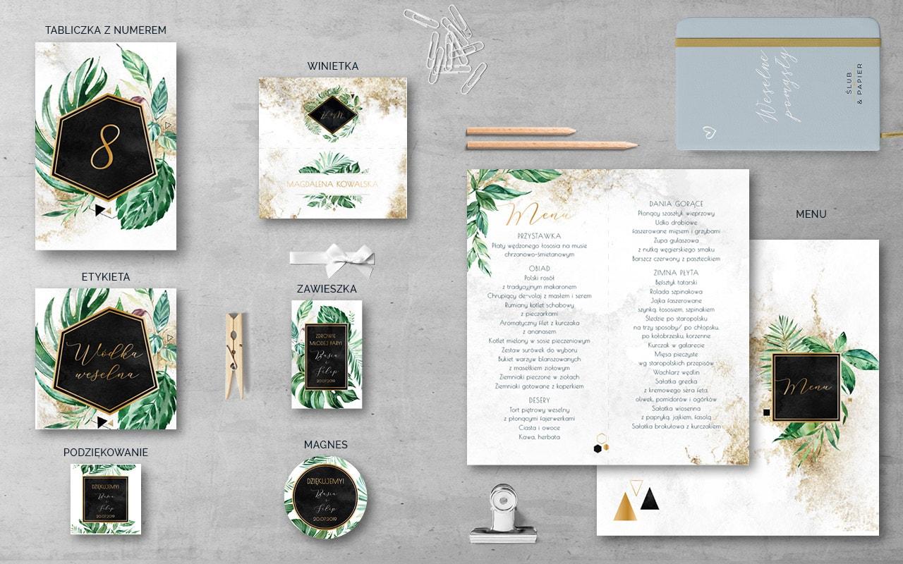 Tropikalne Złoto Dodatki weselne