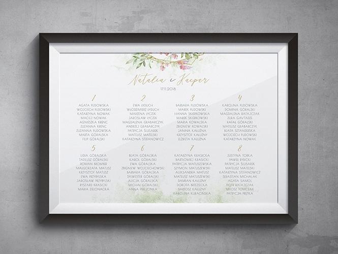 Kwiatowy Kryształ Plan stołów
