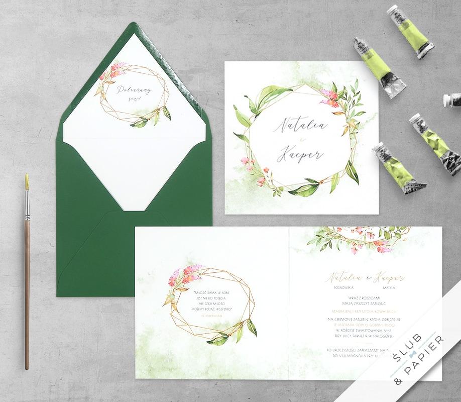 Zaproszenie ślubne Kwiatowy kryształ
