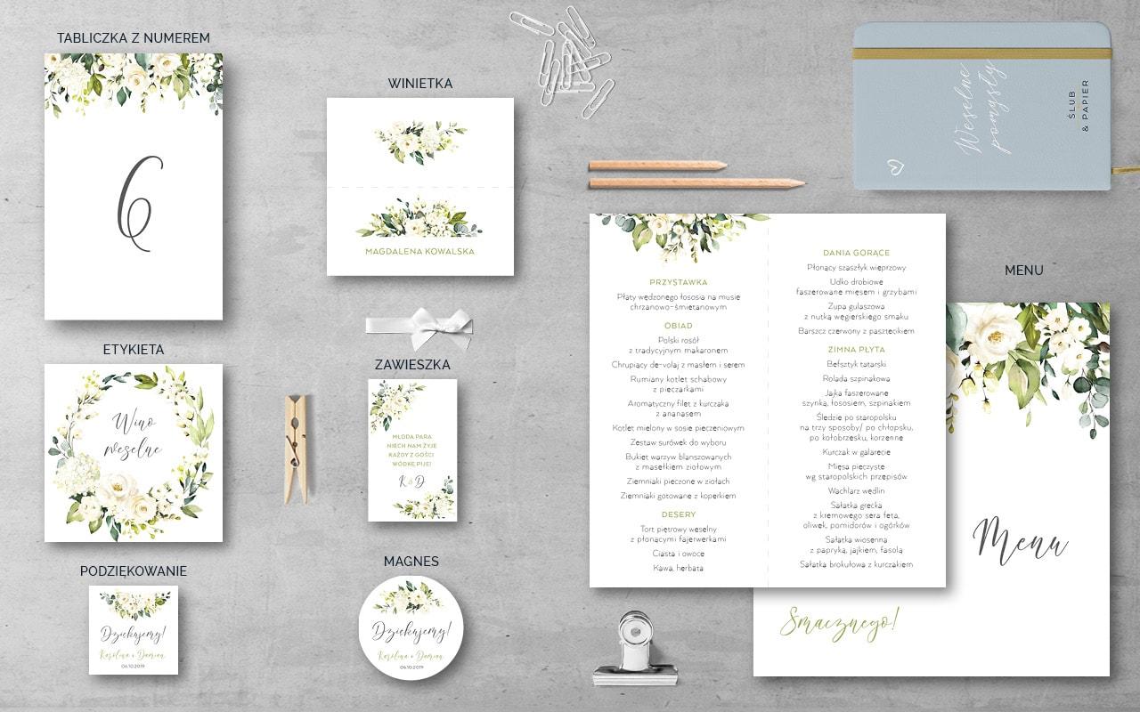 Białe Róże Dodatki weselne