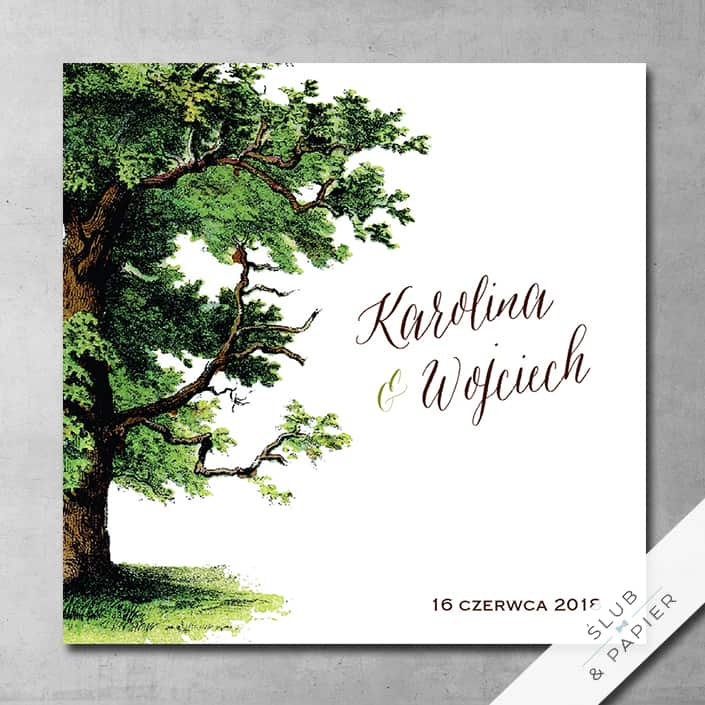 Zaproszenie ślubne Drzewo