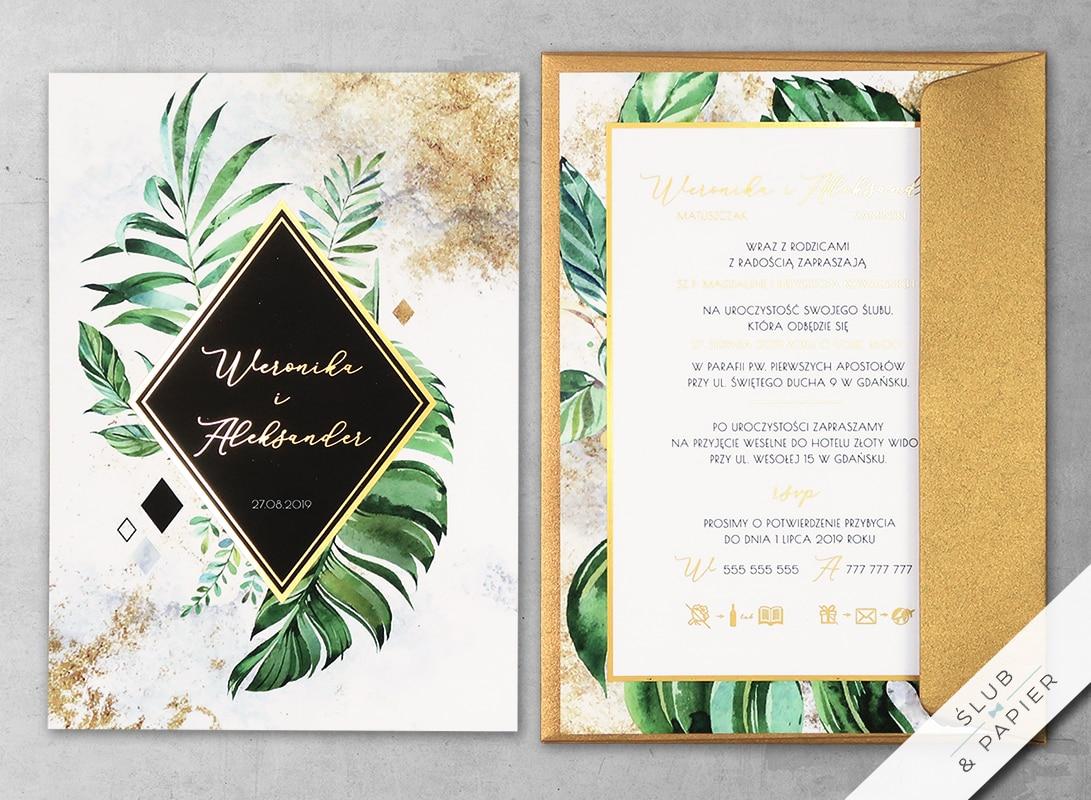 Zaproszenie Tropikalne Złoto