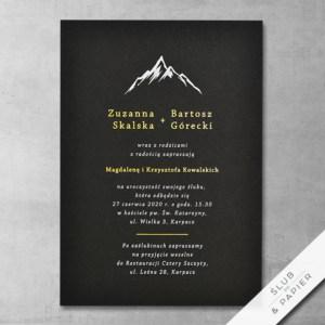 Górskie. Zaproszenie ślubne
