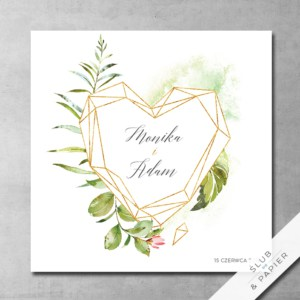 Zaproszenie ślubne - Akwarelowy kryształ