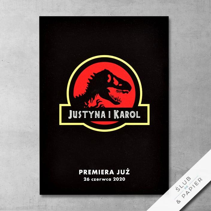 Zaproszenie ślubne Park dinozaurów - zdjęcie poglądowe