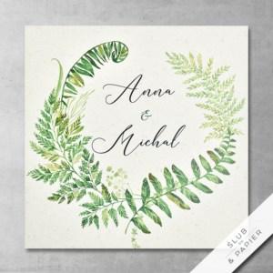 Zaproszenie ślubne Leśne paprocie - zdjęcie poglądowe