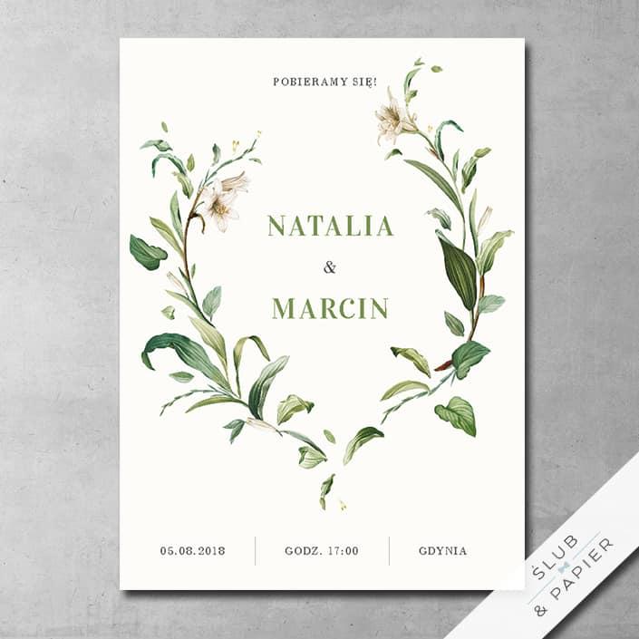 Dzikie lilie - zaproszenie ślubne - zdjęcie poglądowe