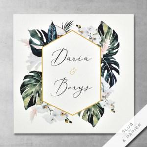 Zaproszenie ślubne - Zieleń tropików