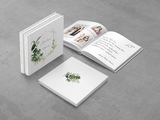 Księga gości do zaproszenia Akwarelowe liście