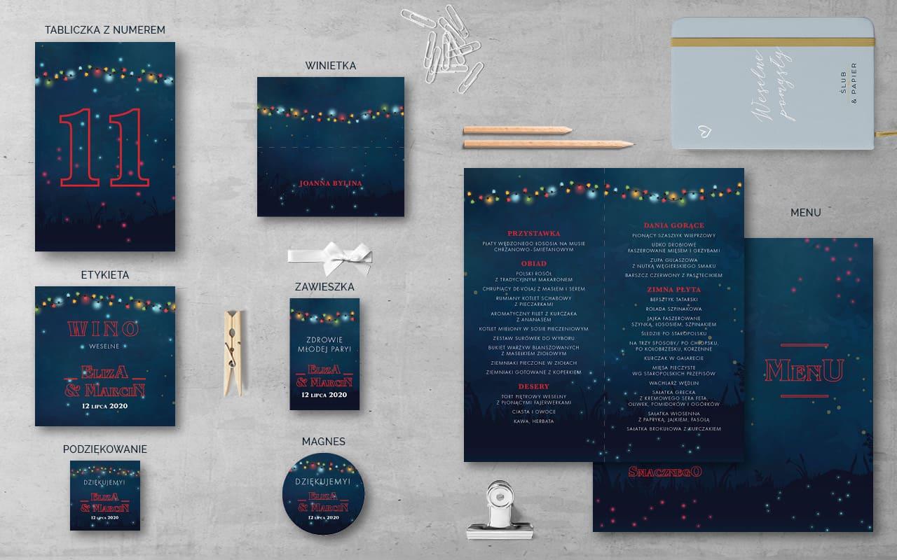 Dodatki weselne do zaproszenia ślubnego Projekt 11