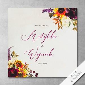 Zaproszenie ślubne Jesienne kwiaty
