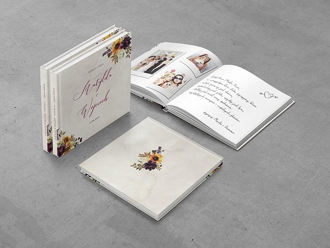 Księga Gości do zaproszenia ślubnego Jesienne Kwiaty