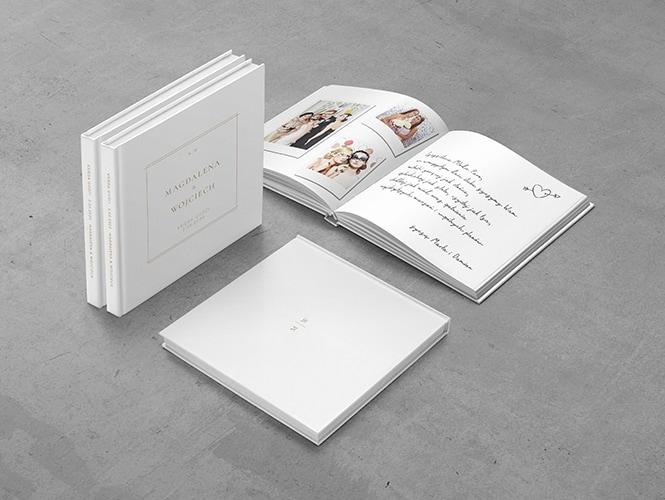 Księga Gości do zaproszenia ślubnego Minimalistyczne złote