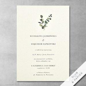 Zaproszenie ślubne Minimalistyczny Eukaliptus