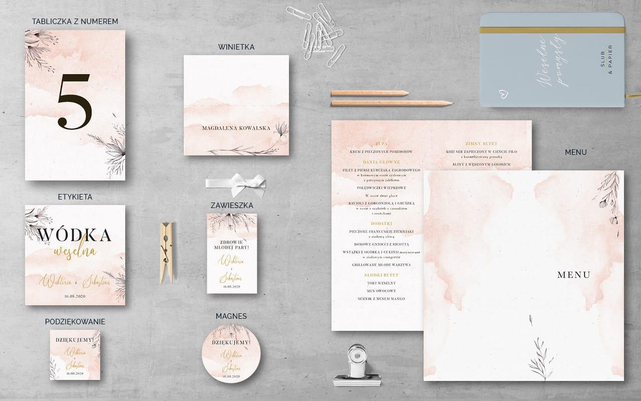 Dodatki weselne do projektu Gałązki i kwiaty