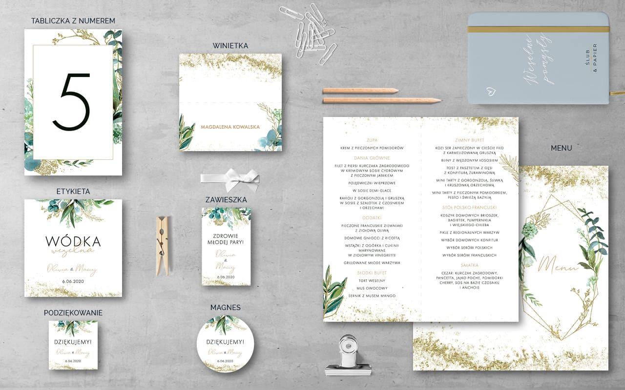 Dodatki weselne do projektu Kwiatowy Pył