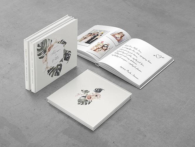 Księga gości do projektu Kwiaty i monstera