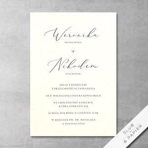 Zaproszenie ślubne Minimalistyczne - zdjęcie poglądowe