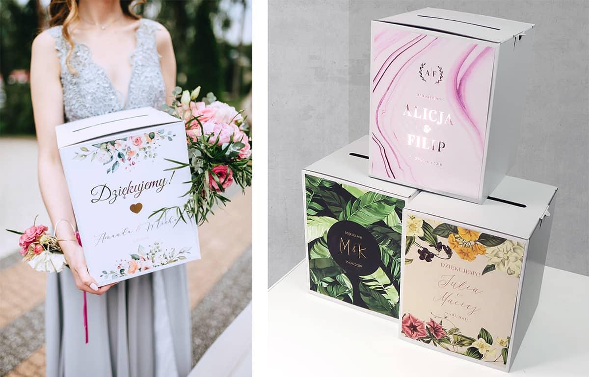 Pudełko na koperty - dodatki weselne