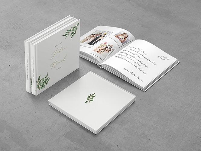 Księga gości do zaproszenia Złote liście