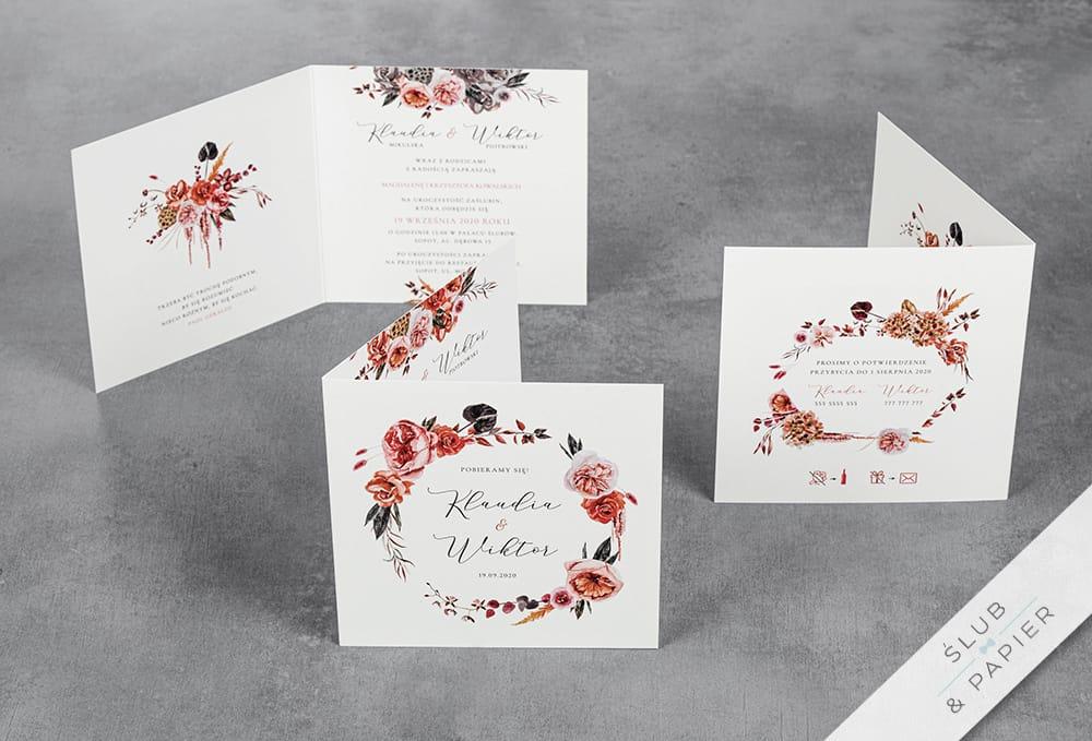 Barwy jesieni - zaproszenia ślubne