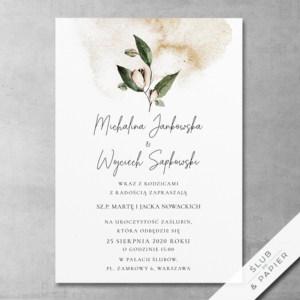 Zaproszenie ślubne Jesienna akwarela