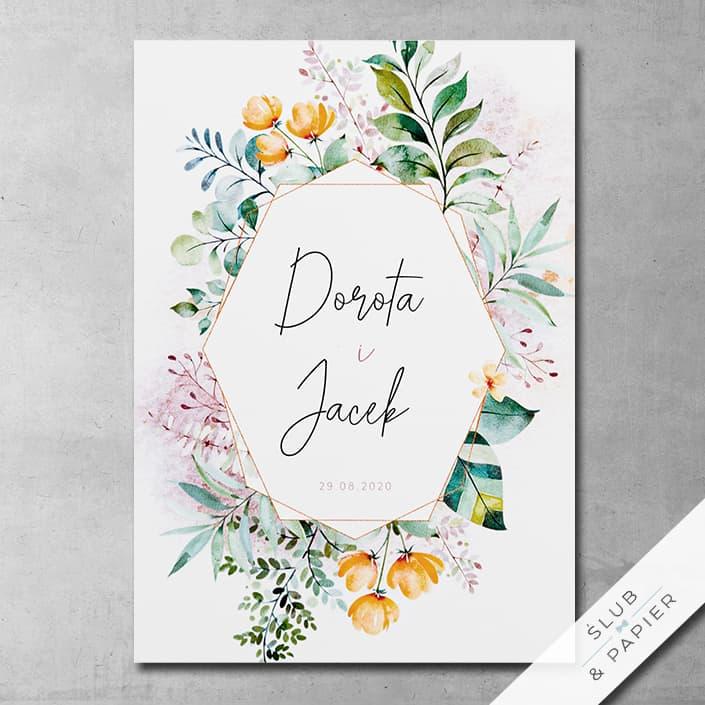 Zaproszenie ślubne Pastelowe kwiaty