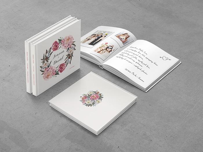 Księga gości do projektu Różowe piwonie