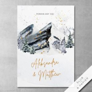 Zaproszenie ślubne Zimowe góry