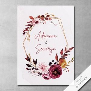 Jesienne peonie - zaproszenia ślubne