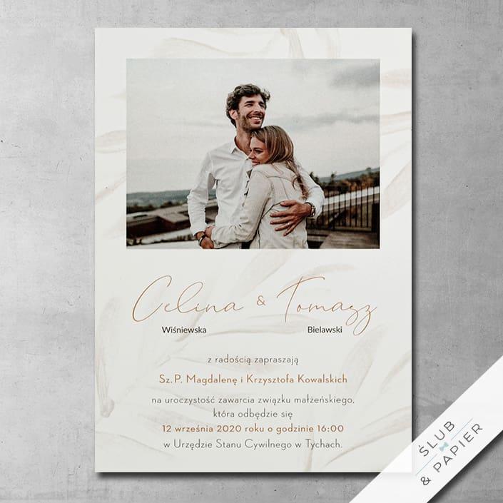 Listki złociste - Zaproszenia ślubne