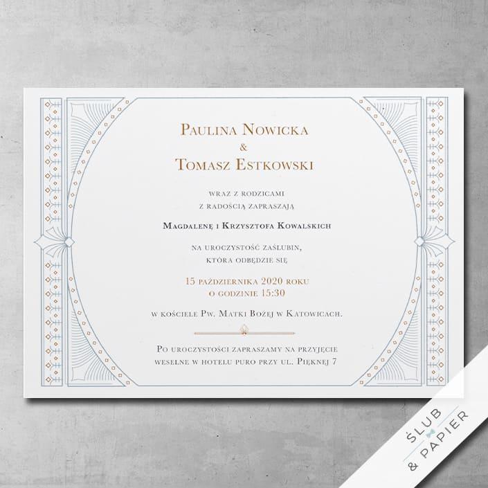 Zaproszenie ślubne Pałacowe